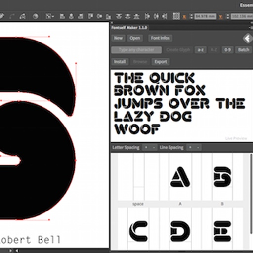 Screenshot of the FontSelf project